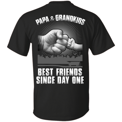Papa And Grandkids Best Friends Single Day One T-Shirt & Hoodie | Teecentury.com