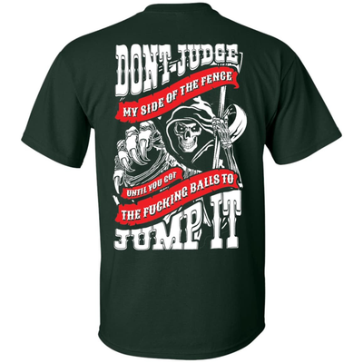 Don't Judge My Side Of The Fenge T-Shirt & Hoodie | Teecentury.com