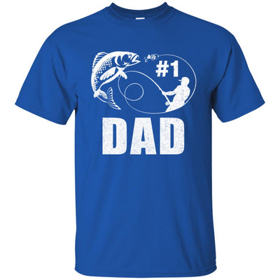 #1 Dad Fishing Fisherman Best Fathers Day Gift T-Shirt & Hoodie | Teecentury.com