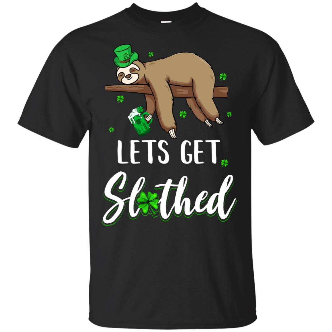 Funny Let's Get Slothed Irish Sloth St Patricks Day
