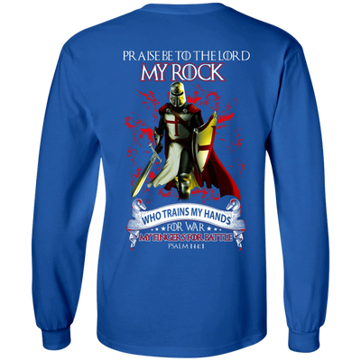 Praise The Lord My Rock Who Trains My Hands For War T-Shirt & Hoodie | Teecentury.com