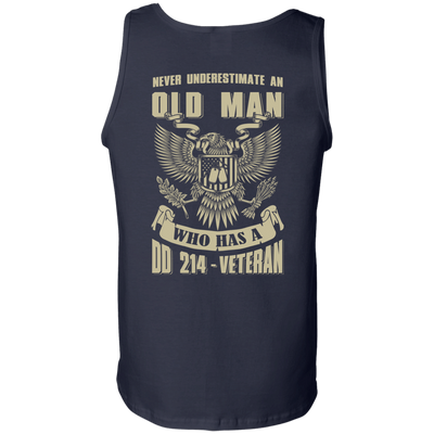 Never Underestimate An Old Man Who Has A DD-214 Veteran T-Shirt & Hoodie | Teecentury.com