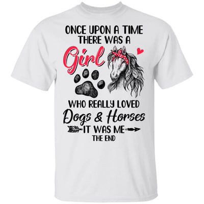 Once Upon A Time There Was Girl Who Loved Dog And Horse Paws T-Shirt & Hoodie | Teecentury.com