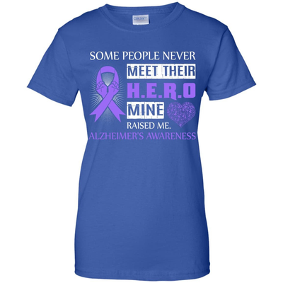 Alzheimer's Awareness Some People Never Meet Hero T-Shirt & Hoodie | Teecentury.com