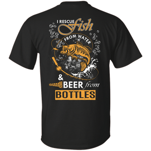 I Rescue Fish From Water Beer From Bottles T-Shirt & Hoodie | Teecentury.com