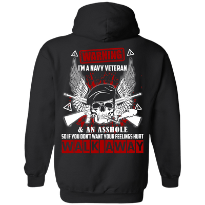 I'm A Navy Veteran And An A**hole T-Shirt & Hoodie | Teecentury.com