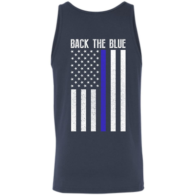 BACK THE BLUE Thin Blue Line Flag T-Shirt & Hoodie | Teecentury.com