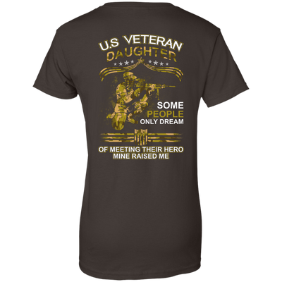 U.S. Veteran Daughter Some People Only Dream Of Meeting T-Shirt & Hoodie | Teecentury.com