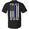 Police Have My Back and I Have Theirs Police Thin Blue Line T-Shirt & Hoodie | Teecentury.com