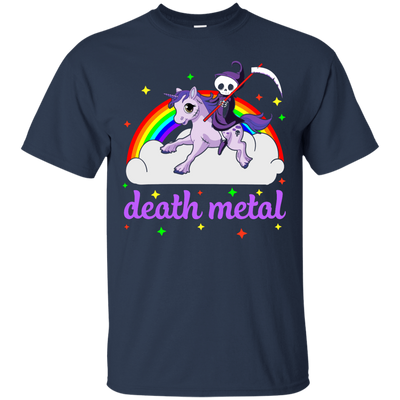 Rainbow Death Metal Rocker Unicorn T-Shirt & Hoodie | Teecentury.com