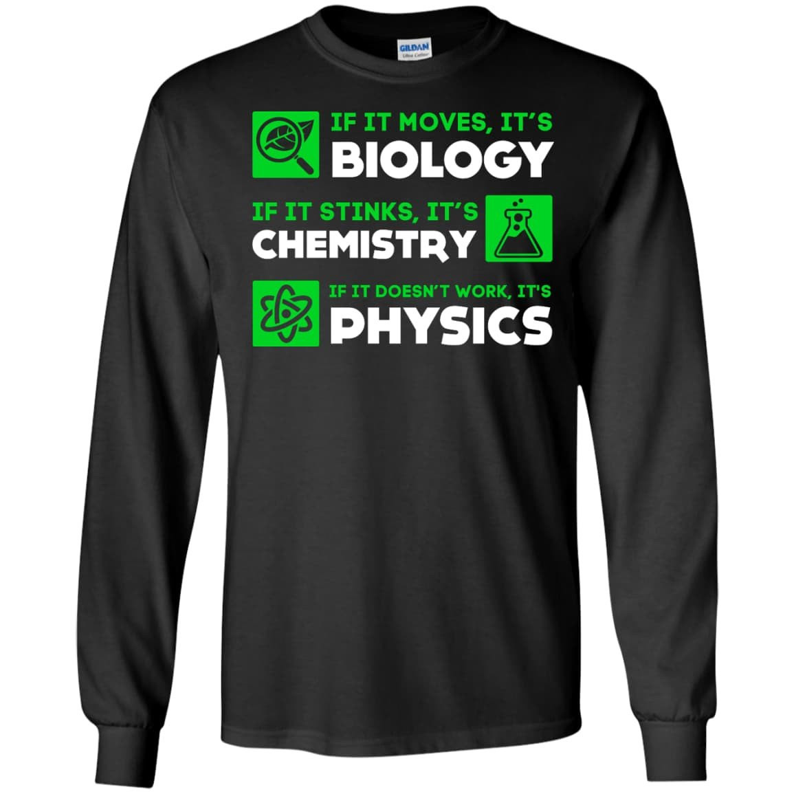 Quality Biology Chemistry Physics Science If It Standard Unisex T-shirt
