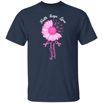 Faith Hope Love Pink Ribbon Breast Cancer Awareness T-Shirt & Hoodie | Teecentury.com