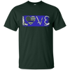 LOVE Thin Blue Line Police Officer T-Shirt & Hoodie | Teecentury.com
