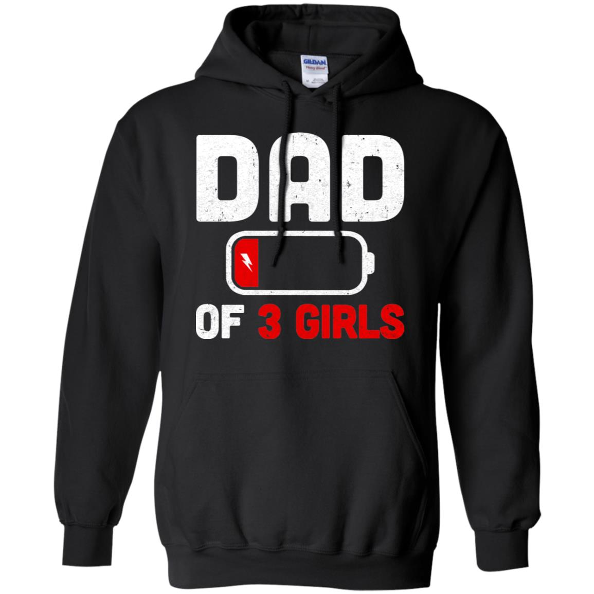 Funny Dad Of 3 Girls Fathers Day Gifts