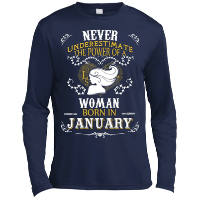 A Woman Born In JANUARY T-Shirt & Hoodie | Teecentury.com