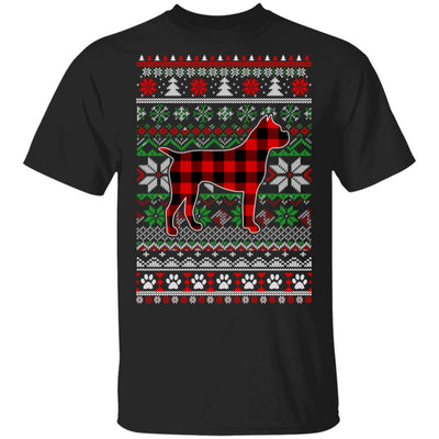 Boxer Red Plaid Ugly Christmas Sweater Gifts T-Shirt & Sweatshirt | Teecentury.com