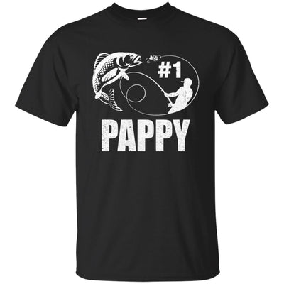 #1 Pappy Fishing Fisherman Best Fathers Day Gift T-Shirt & Hoodie | Teecentury.com