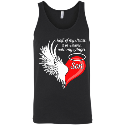 Son Half My Heart Is In Heaven With My Angel T-Shirt & Hoodie | Teecentury.com