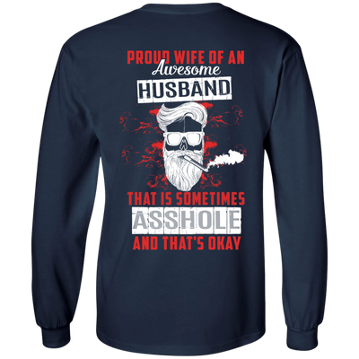 Proud Wife Of An Awesome Husband T-Shirt & Hoodie | Teecentury.com