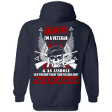 I'm A Veteran And An A**hole T-Shirt & Hoodie | Teecentury.com