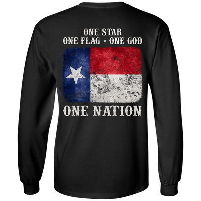 One Star One Flag One God One Nation T-Shirt & Hoodie | Teecentury.com