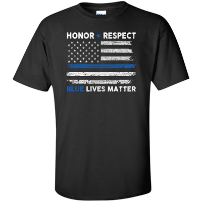 Honor and Respect Blue lives matter T-Shirt & Hoodie | Teecentury.com