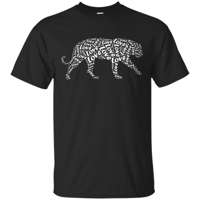 I Love Tiger T-Shirt Word Graphic Tee T-Shirt & Hoodie | Teecentury.com