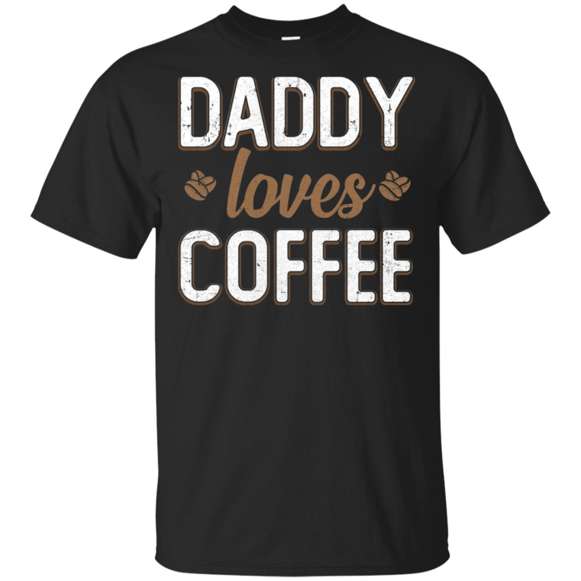 Funny Daddy Loves Coffee Fathers Day Gift