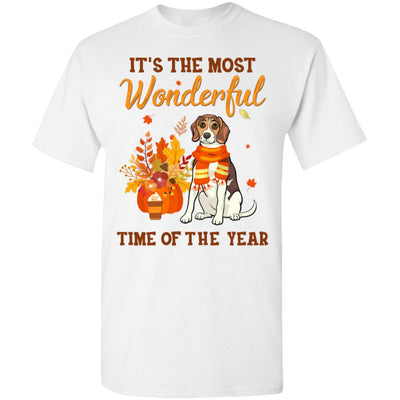 Beagle Autumn It's The Most Wonderful Time Of The Year T-Shirt & Hoodie | Teecentury.com
