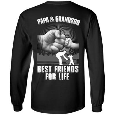 Papa And Grandson Best Friends For Life T-Shirt & Hoodie | Teecentury.com