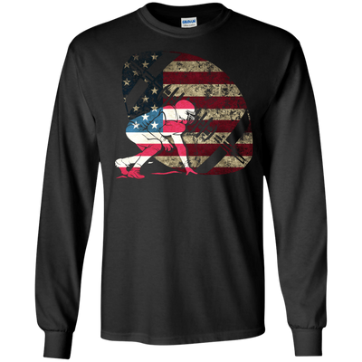 Tackle Football America Flag T-Shirt & Hoodie | Teecentury.com