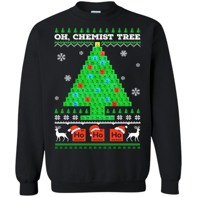 Oh Chemistry Tree Science Christmas Ugly Sweater T-Shirt & Hoodie | Teecentury.com