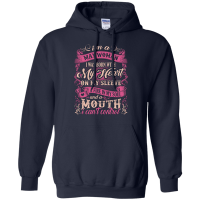 I Am A May Woman I Was Born With My Heart On My Sleeve T-Shirt & Hoodie | Teecentury.com