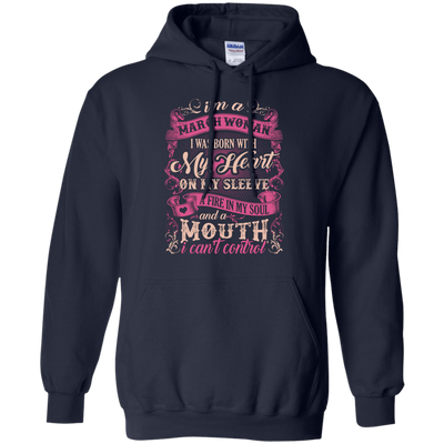 I Am A March Woman I Was Born With My Heart On My Sleeve T-Shirt & Hoodie | Teecentury.com