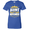 The Best Aunt Was Born In November T-Shirt & Hoodie | Teecentury.com