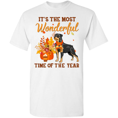 Rottweiler Autumn It's The Most Wonderful Time Of The Year T-Shirt & Hoodie | Teecentury.com