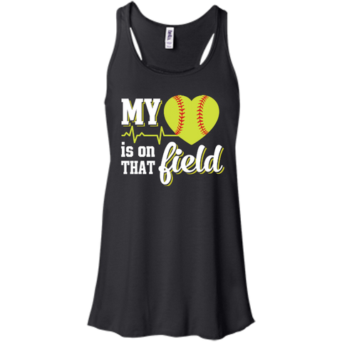 My Heart Is On That Field Softball T-Shirt & Hoodie | Teecentury.com