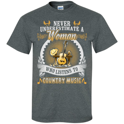 A Woman Listen To Country Music T-Shirt & Hoodie | Teecentury.com