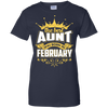 The Best Aunt Was Born In February T-Shirt & Hoodie | Teecentury.com
