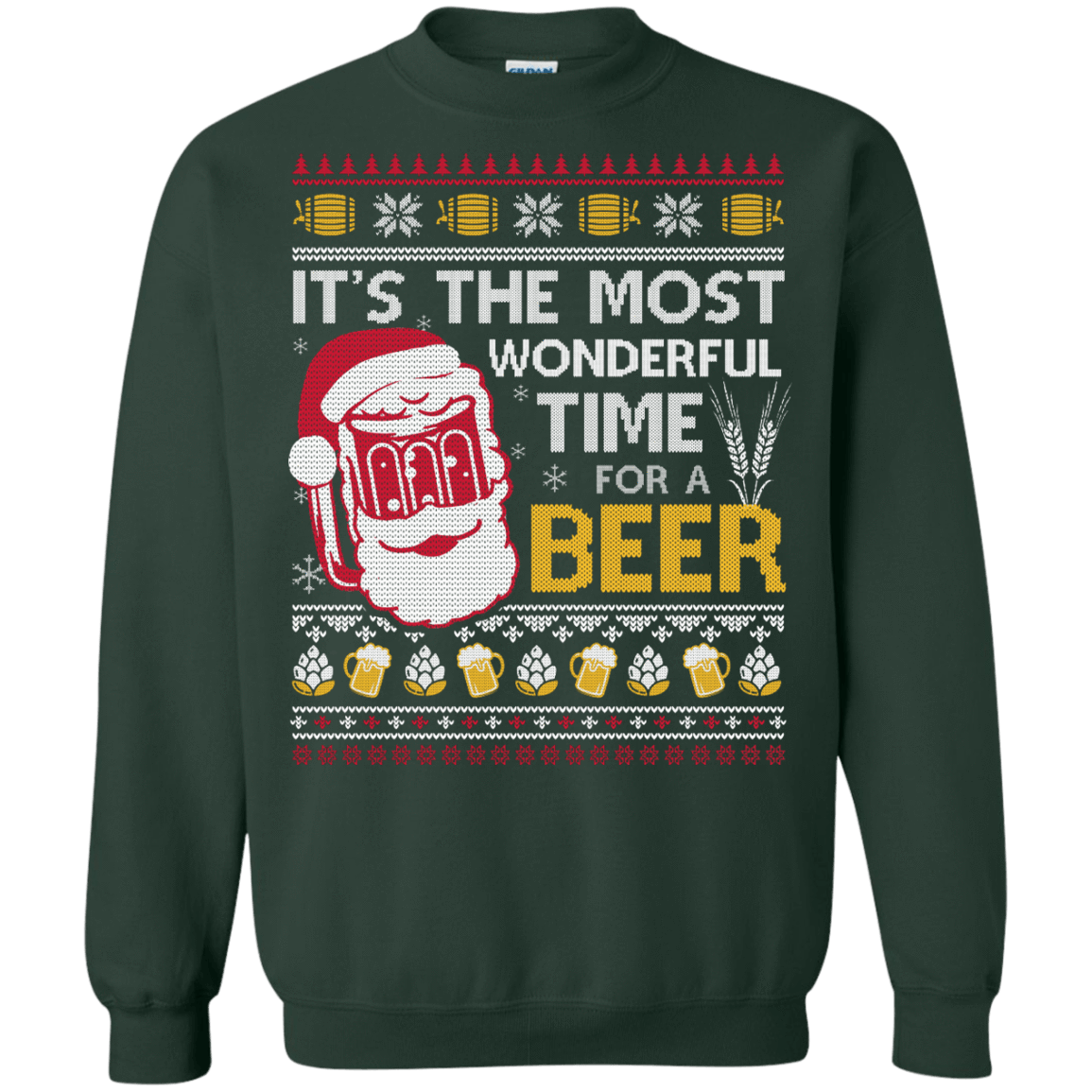 d75f36f83 It's The Most Wonderful Time For A Beer Ugly Sweater Shirt ...