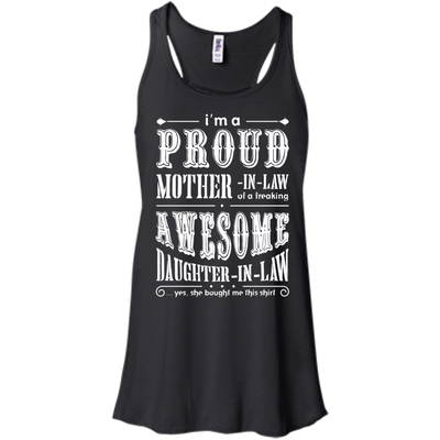 I'm A Proud Mother In Law Freaking Awesome Daughter In Law T-Shirt & Hoodie | Teecentury.com