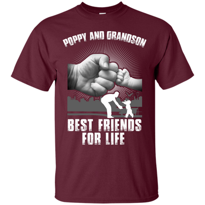 Poppy And Grandson Best Friends For Life T-Shirt & Hoodie | Teecentury.com