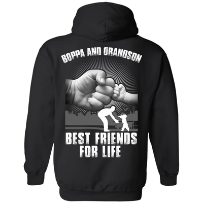 Boppa And Grandson Best Friends For Life T-Shirt & Hoodie | Teecentury.com