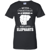 Never Underestimate Woman Loves Elephant T-Shirt & Hoodie | Teecentury.com