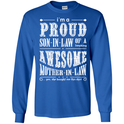 I'm A Proud Son In Law Of A Freaking Awesome Mother In Law T-Shirt & Hoodie | Teecentury.com