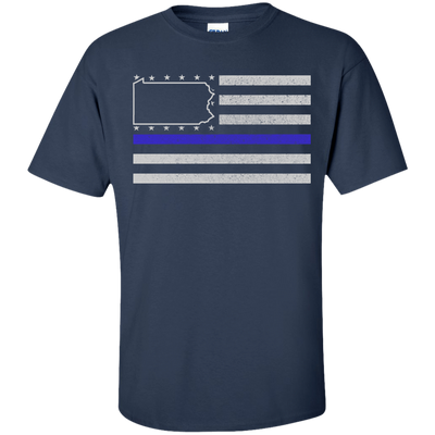Pennsylvania Thin Blue Line Police State T-Shirt & Hoodie | Teecentury.com