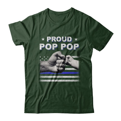 Proud Pop Pop Police Thin Blue Line Flag Fathers Day T-Shirt & Hoodie | Teecentury.com