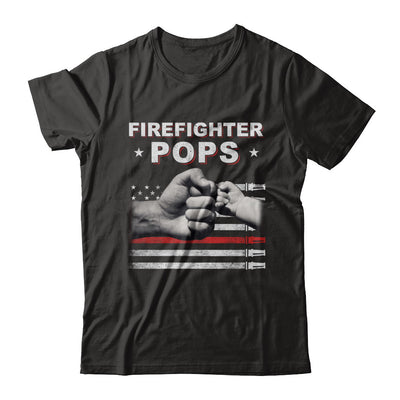 Firefighter Fireman Pops American Flag Fathers Day T-Shirt & Hoodie | Teecentury.com