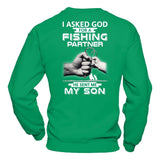 I Asked God For A Fishing Partner He Sent Me My Son T-Shirt & Hoodie | Teecentury.com