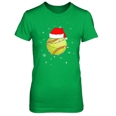 Santa Hat Softball Christmas Gifts T-Shirt & Sweatshirt | Teecentury.com